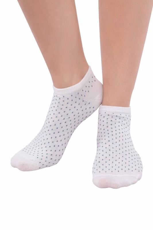 SİMİSSO - Penguen Puantiyeli Kadın Soket Çorap 3'lü | İndigo
