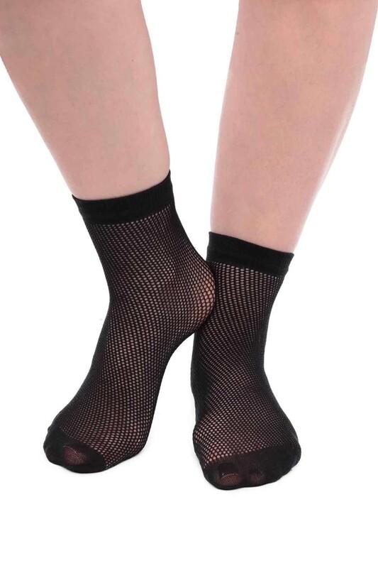 SİMİSSO - İtaliana File Kadın Soket Çorap | Siyah