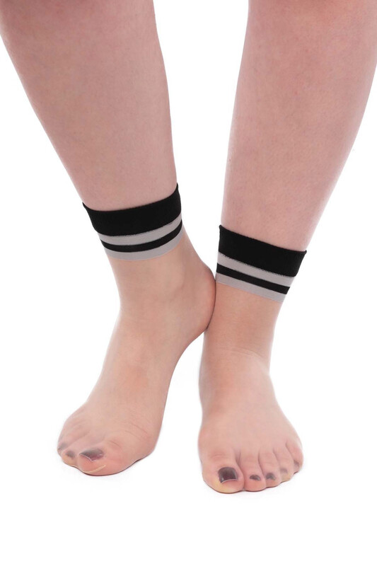 SİMİSSO - İtaliana Fit Çemberli Kadın Soket Çorap | Ten