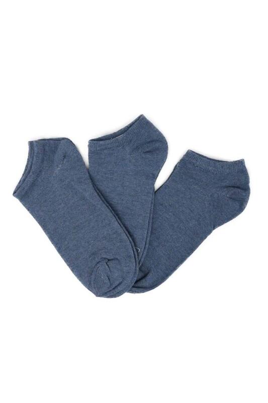 SİMİSSO - Penguen Kadın Soket Çorap 3'lü | İndigo