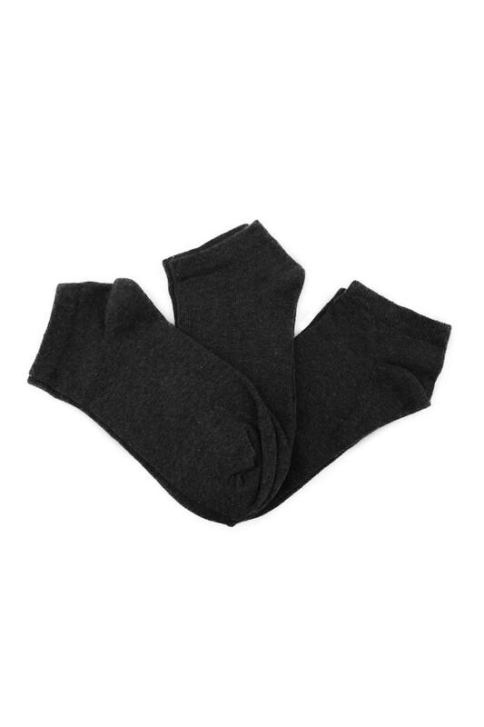 SİMİSSO - Penguen Kadın Soket Çorap 3'lü | Füme