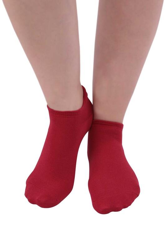 SİMİSSO - Meyve Desenli Kadın Soket Çorap | Bordo