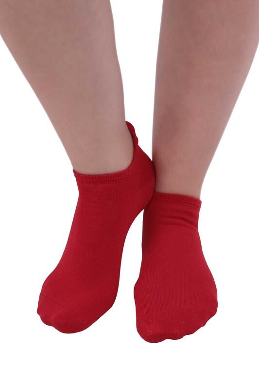 SİMİSSO - Meyve Desenli Kadın Soket Çorap | Kırmızı