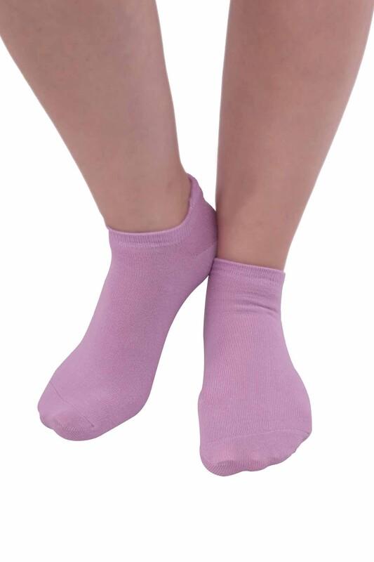 SİMİSSO - Meyve Desenli Kadın Soket Çorap | Lila