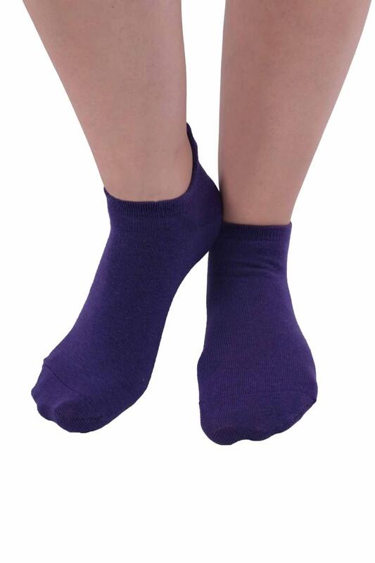 SİMİSSO - Meyve Desenli Kadın Soket Çorap | Mor