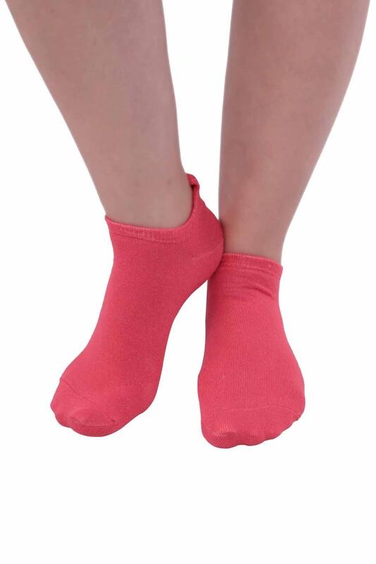 SİMİSSO - Meyve Desenli Kadın Soket Çorap | Pembe