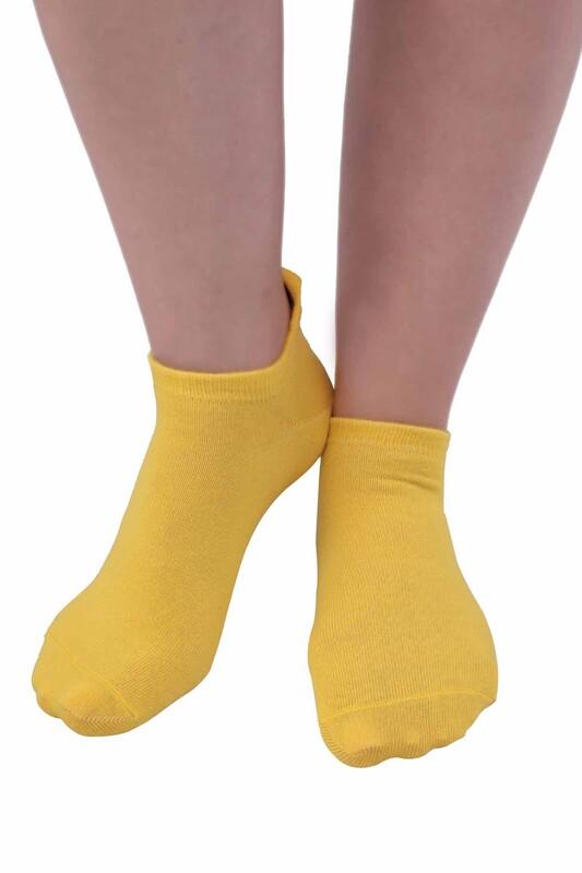 SİMİSSO - Meyve Desenli Kadın Soket Çorap | Sarı