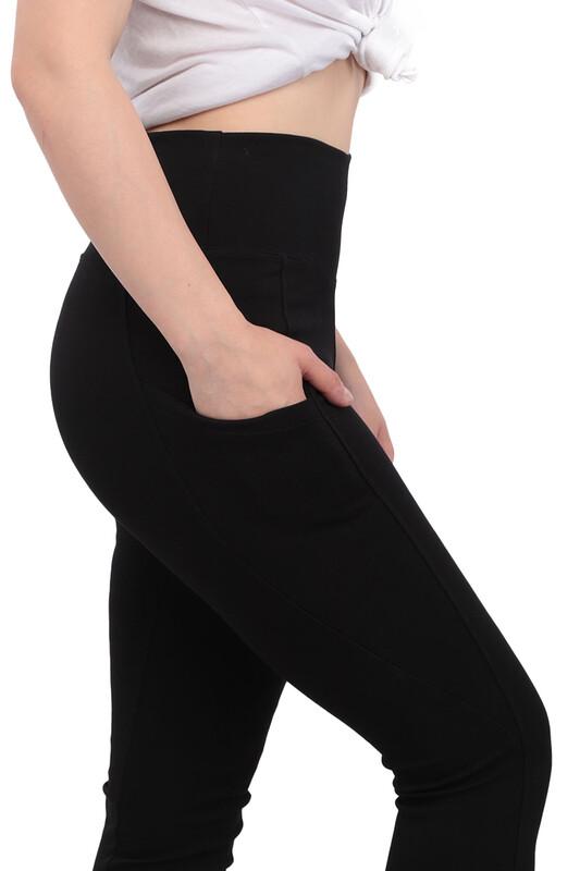 New Model - Cepli Kadın Tayt | Siyah