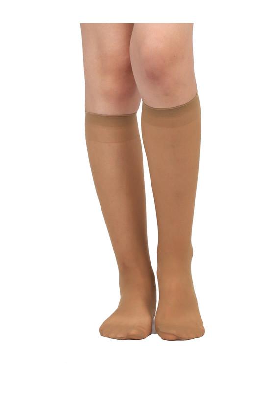 DAYMOD - Daymod İnce Dizaltı Çorap Süper 15 | Bronz