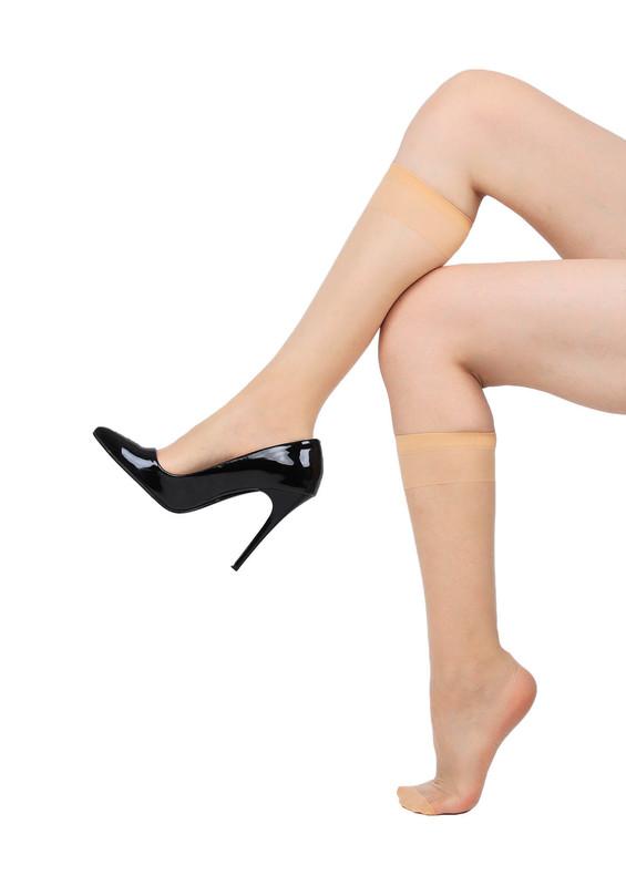 DAYMOD - Daymod İnce Düz Dizaltı Çorap Fity 15 | Natural