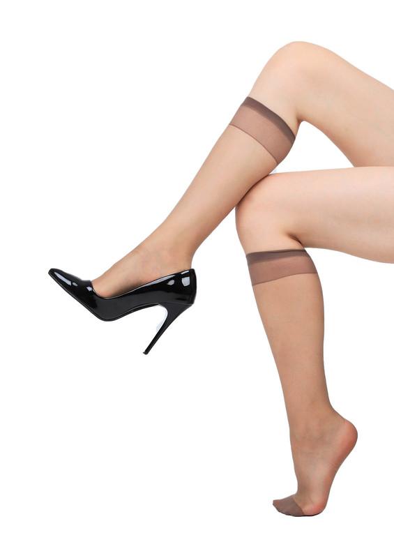 DAYMOD - Daymod İnce Düz Dizaltı Çorap Fity 15 | Vizon