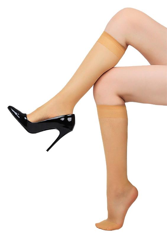 DAYMOD - Daymod İnce Düz Dizaltı Çorap Fity 15 | Ten