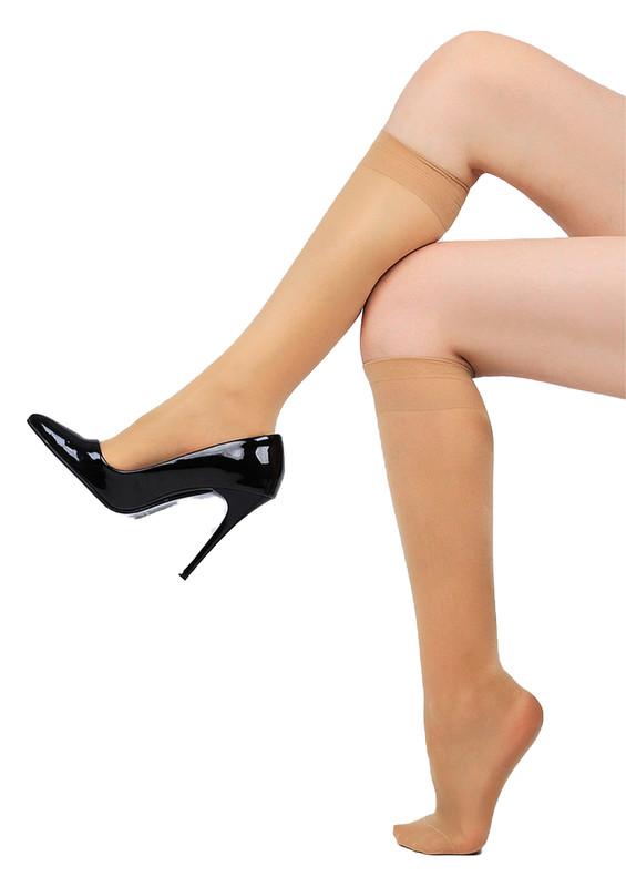 DAYMOD - Daymod Yarı Şeffaf Dizaltı Çorap Venüs 40 | Ten