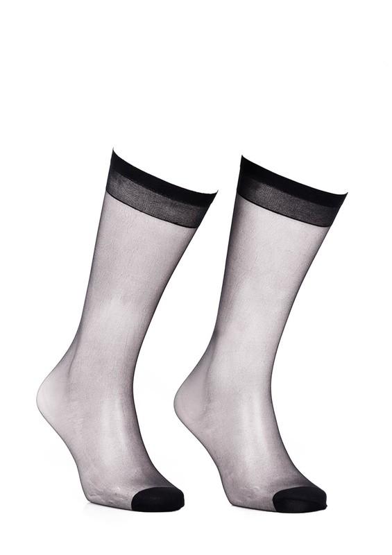 DAYMOD - Daymod İnce Düz Dizaltı Çorap Fity 15 | Siyah