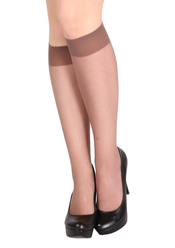 DAYMOD - Daymod Yarı Şeffaf Dizaltı Çorap Venüs 40 | Vizon