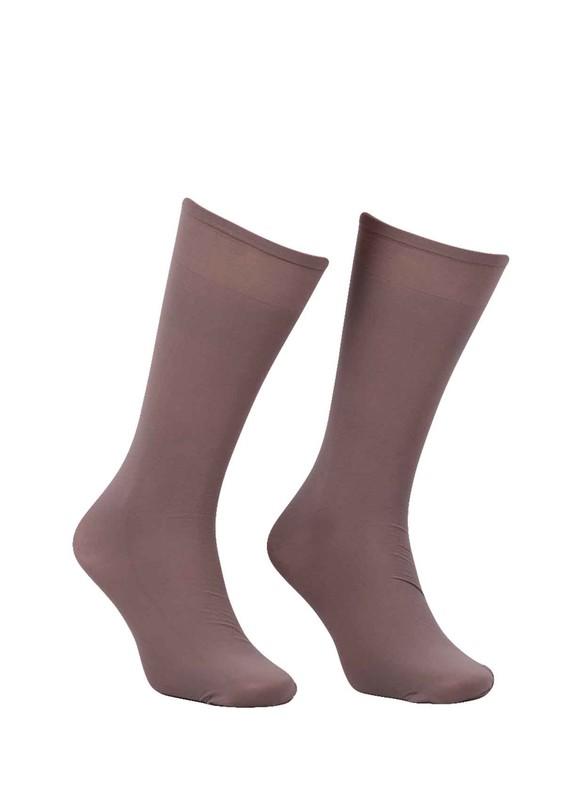 DORE - Dore Geniş Lastikli Dizaltı Çorap 292 | Vizon