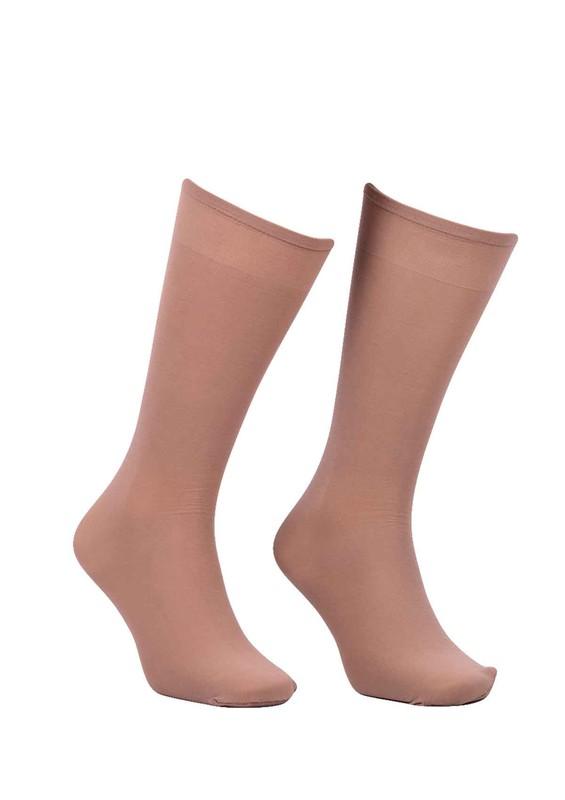DORE - Dore Geniş Lastikli Dizaltı Çorap 292 | Bronz