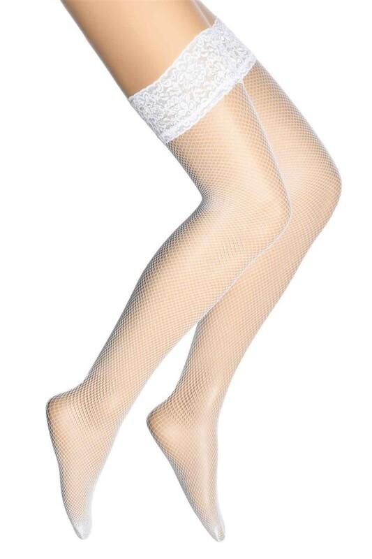 DORE - Dore Sık File Dizüstü Çorap 293 | Beyaz