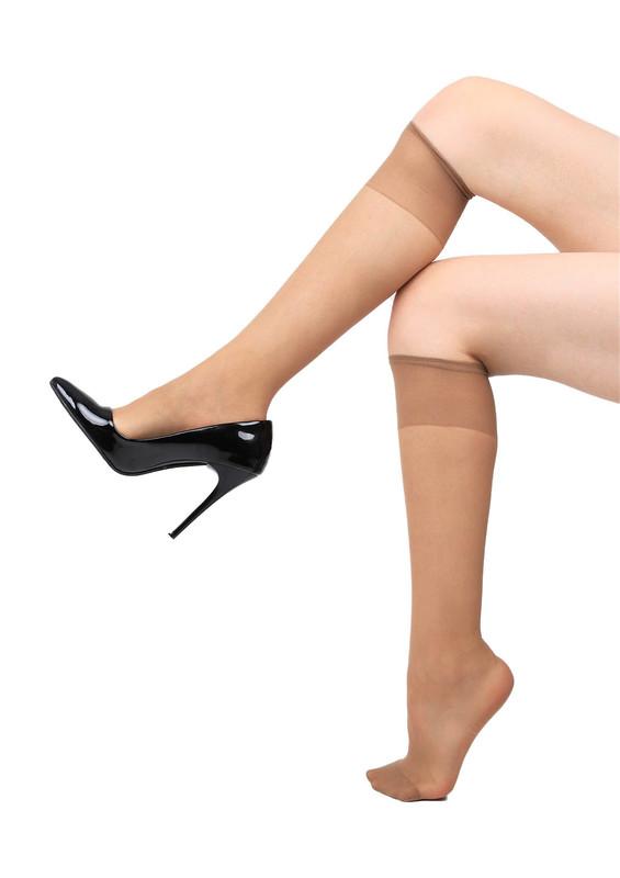 ITALIANA - İtaliana Dizaltı İnce Çorap 1002 | Koyu Ten