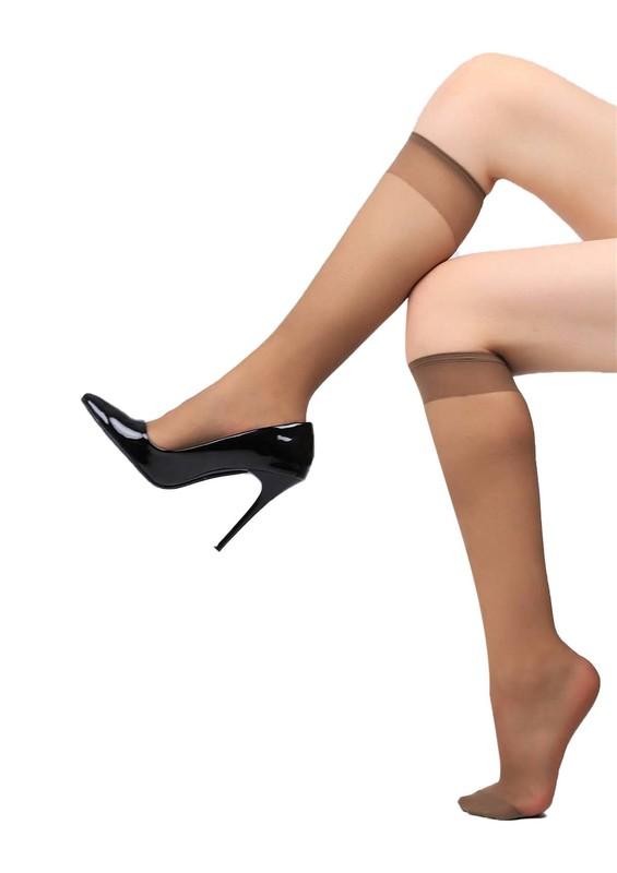 ITALIANA - İtaliana Dizaltı İnce Çorap 1002 | Vizon