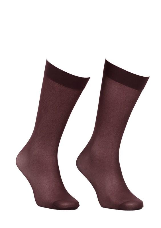 ITALIANA - İtaliana Opak Konfor Bantlı Dizaltı Çorap 1013 | Kahverengi