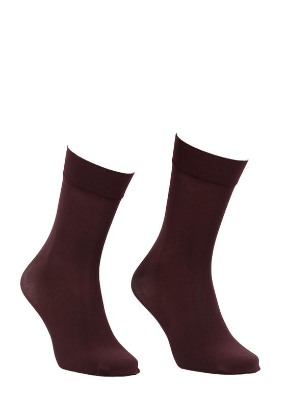 ITALIANA - İtaliana Düz Dizaltı Çorap 1014 | Kahverengi