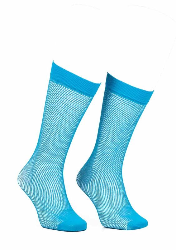 ITALIANA - İtaliana File Dizaltı Çorap Renk Seçenekli 1026 | Turkuaz