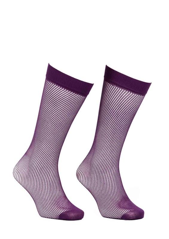 ITALIANA - İtaliana File Dizaltı Çorap Renk Seçenekli 1026 | Mor