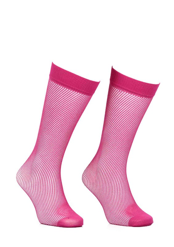 ITALIANA - İtaliana File Dizaltı Çorap Renk Seçenekli 1026 | Fuşya