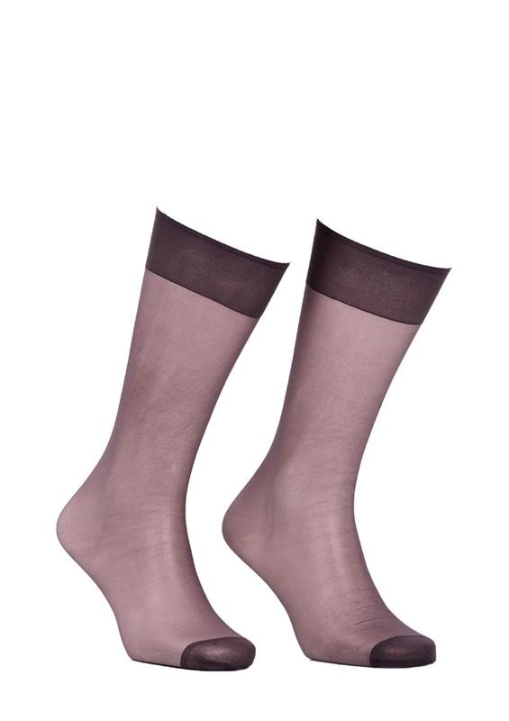 ITALIANA - İtaliana Düz İnce Dizaltı Çorap 9223 | Füme