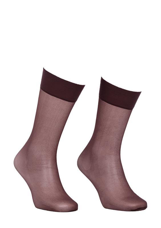 ITALIANA - İtaliana Düz İnce Dizaltı Çorap 9223 | Kahverengi