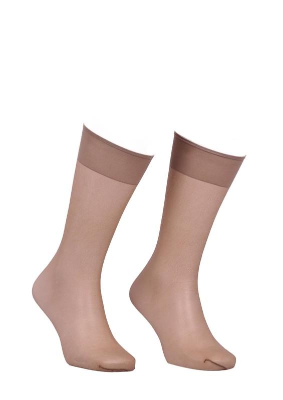 ITALIANA - İtaliana Düz İnce Dizaltı Çorap 9223 | Koyu Ten