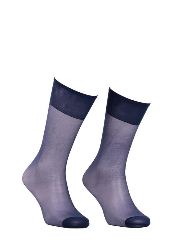 ITALIANA - İtaliana Konfor Bantlı Parlak Dizaltı Çorap 9423 | Lacivert