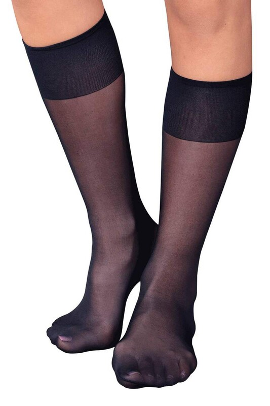 ITALIANA - İtaliana Düz İnce Dizaltı Çorap 9223   Lacivert