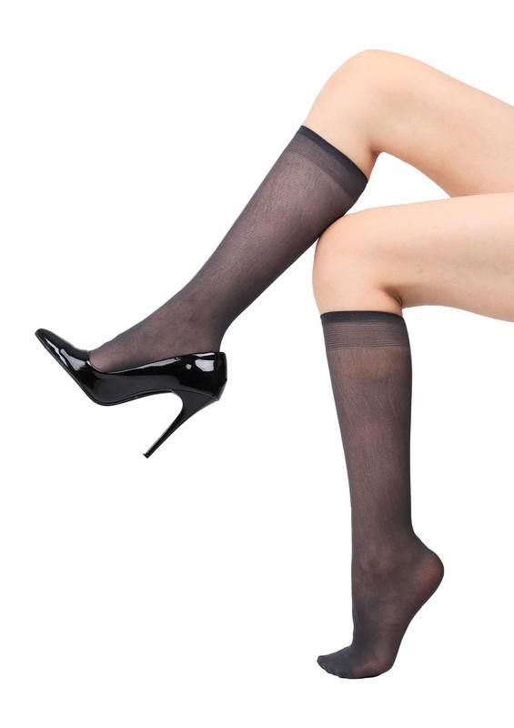MÜJDE - Müjde Orta Kalın Dizaltı Çorap 40 den 016 | Füme