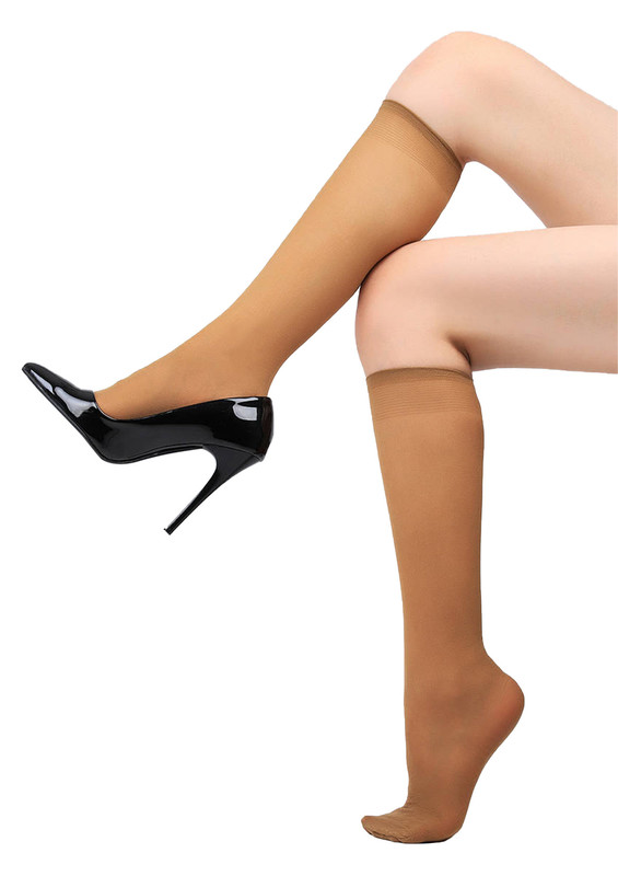 MÜJDE - Müjde Orta Kalın Dizaltı Çorap 40 den 016 | Bronz