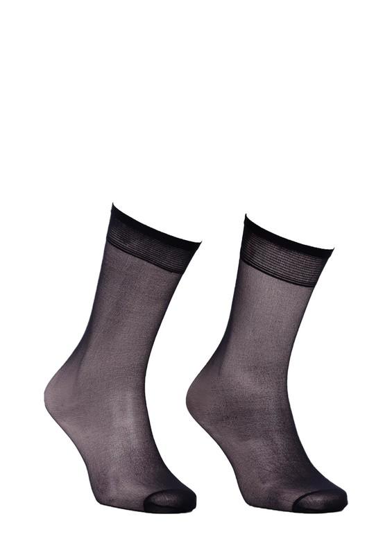 MÜJDE - Müjde İnce Dizaltı Çorap 20 den 004 | Siyah