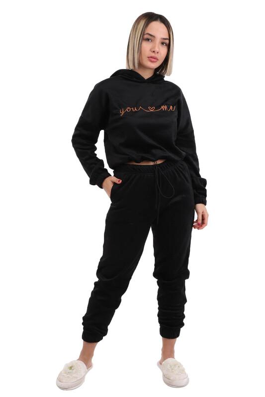 ARCAN - Arcan Kapüşonlu Pijama Takımı 1410-1 | Siyah
