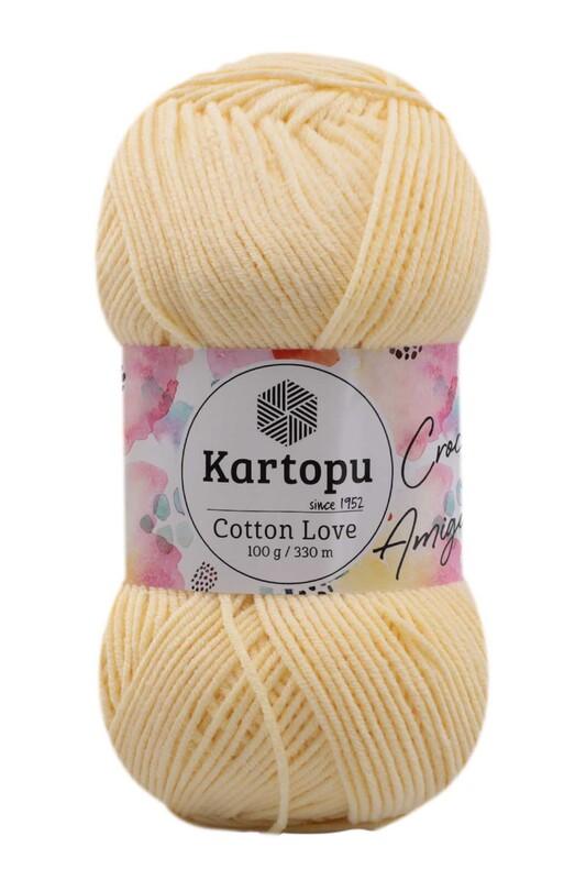 KARTOPU - Kartopu Cotton Love El Örgü İpi 100 gr   Sarı K331