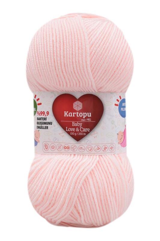KARTOPU - Kartopu Baby Love & Care El Örgü İpi 100 gr. | Açık Pembe K255