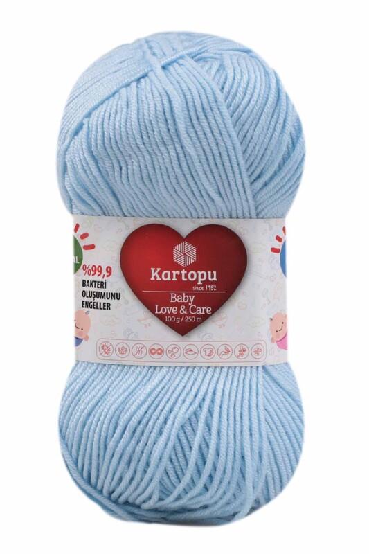KARTOPU - Kartopu Baby Love & Care El Örgü İpi 100 gr. | Bebe Mavi K544