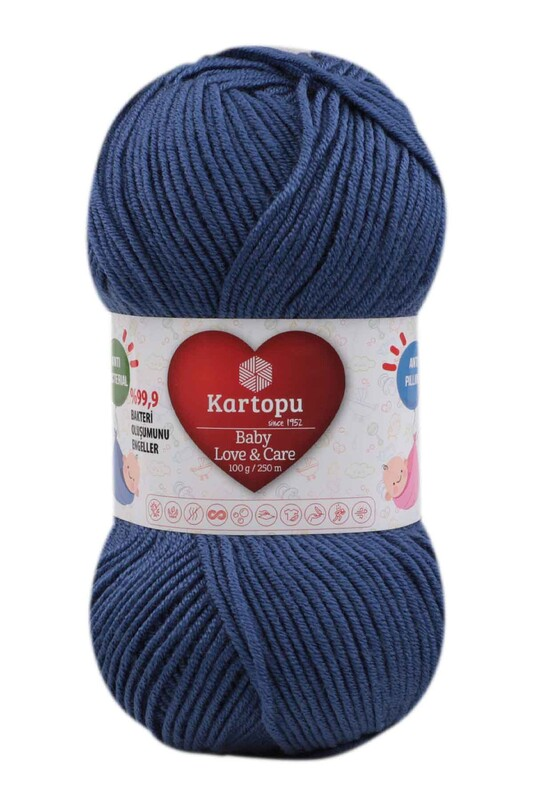 KARTOPU - Kartopu Baby Love & Care El Örgü İpi 100 gr.   Açık Lacivert K604