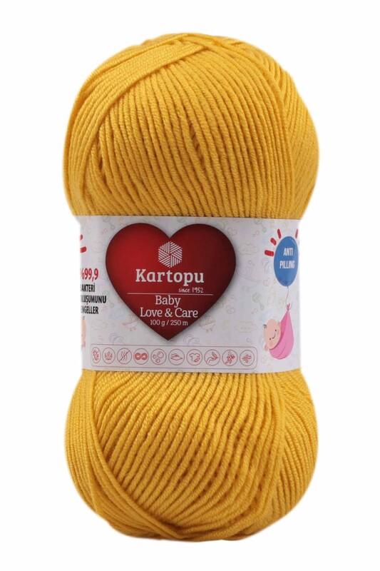 KARTOPU - Kartopu Baby Love & Care El Örgü İpi 100 gr. | Sarı K1321