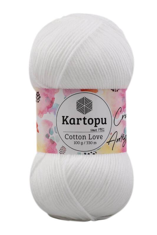 KARTOPU - Kartopu Cotton Love El Örgü İpi 100 gr | Beyaz K010