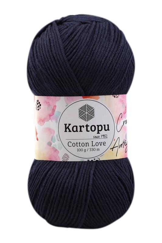 KARTOPU - Kartopu Cotton Love El Örgü İpi 100 gr | Koyu Lacivert K630