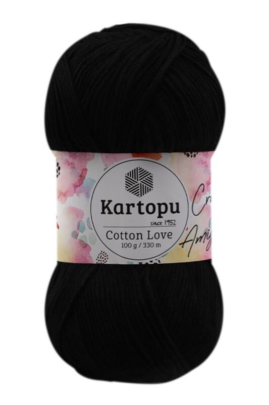 KARTOPU - Kartopu Cotton Love El Örgü İpi 100 gr | Siyah K940
