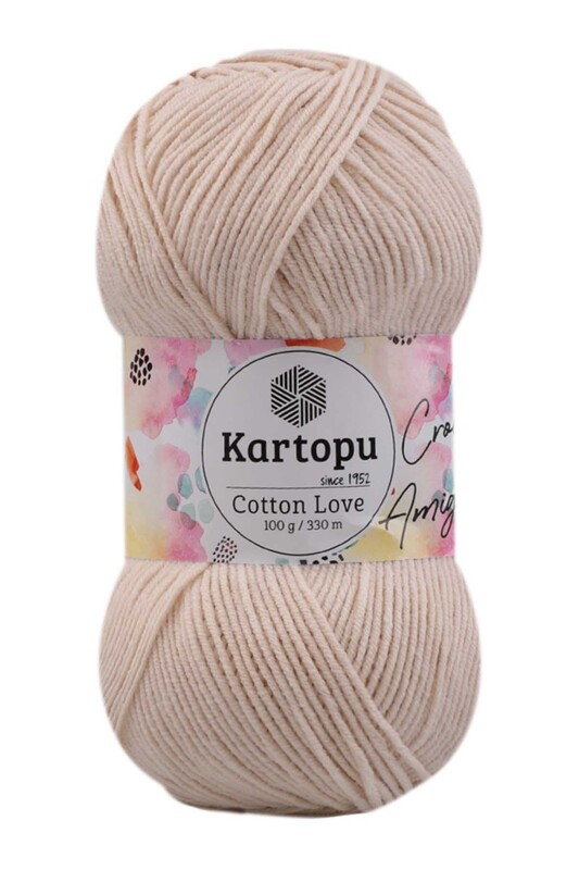 KARTOPU - Kartopu Cotton Love El Örgü İpi 100 gr | Ekru K354