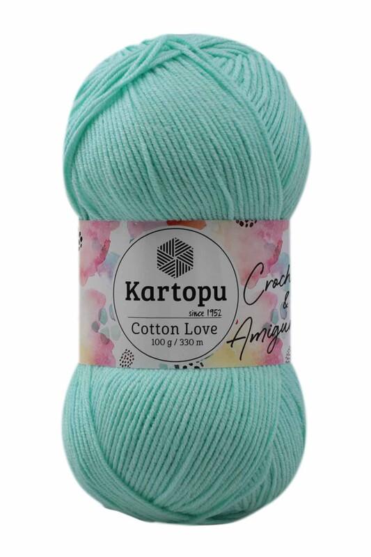 KARTOPU - Kartopu Cotton Love El Örgü İpi 100 gr | Mint Yeşil K507
