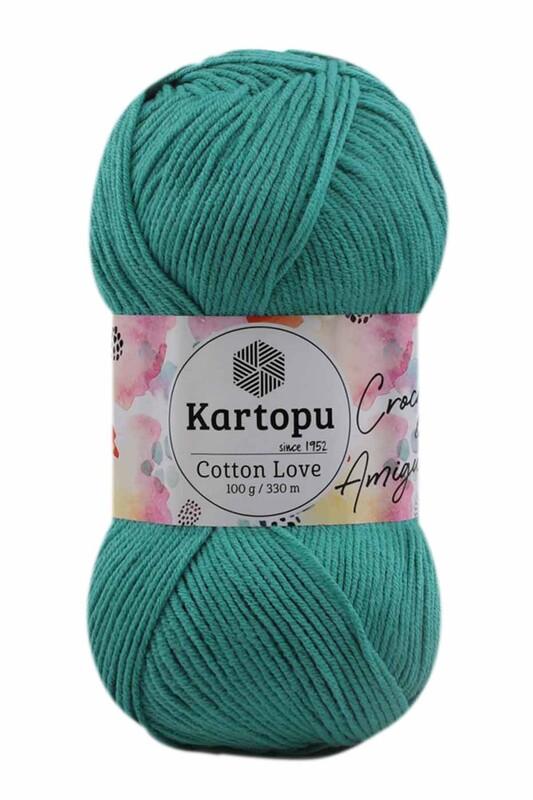 KARTOPU - Kartopu Cotton Love El Örgü İpi 100 gr | Yeşil K418