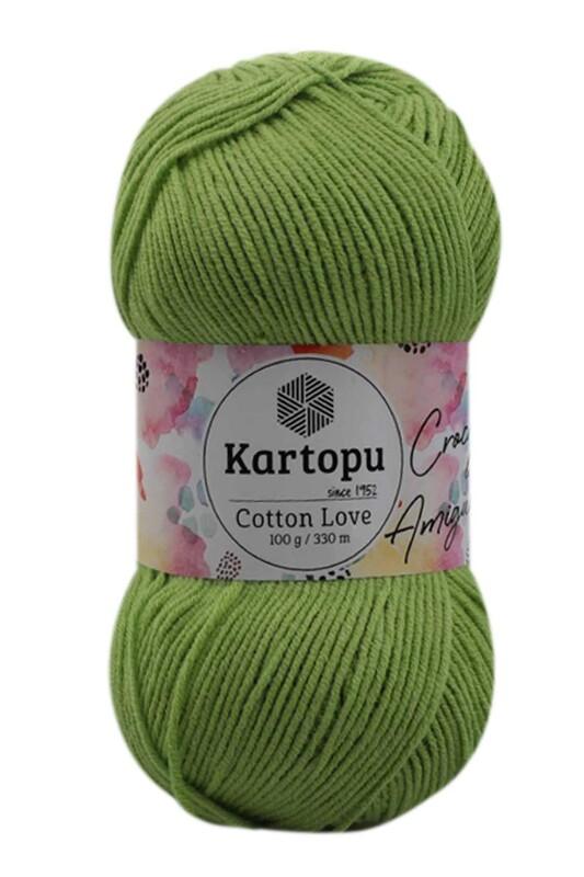 KARTOPU - Kartopu Cotton Love El Örgü İpi 100 gr | Yeşil K404